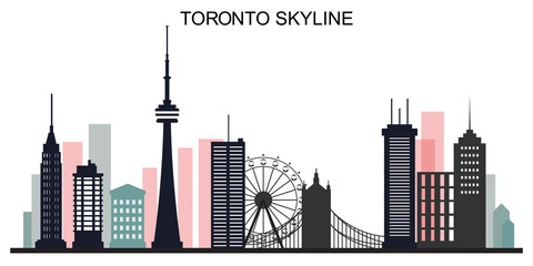 Toronto skyline creative background