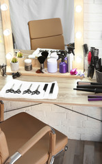 Hairdresser's workplace in salon