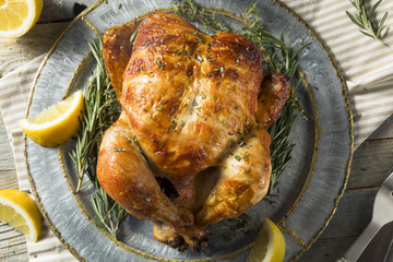 Wall Mural - Homemade Rotisserie Chicken with Herbs