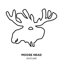 moose head outline on white background