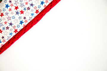 Patriotic colors isolated