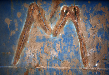 Sharped old wall Alphabet