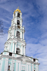 Trinity Sergius Lavra, Sergiyev Posad, Russia. Popular landmark. Color photo.