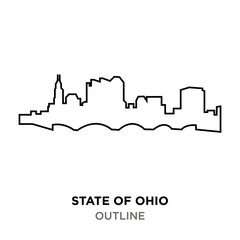state of ohio outline on white background