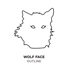 wolf face outline on white background