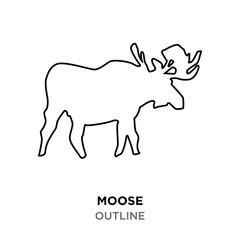 moose outline on white background