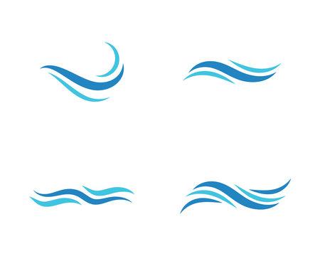 Water wave vector illustration design