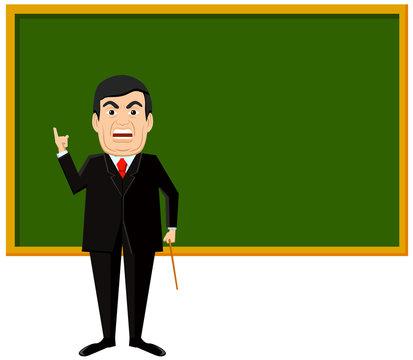 Angry teacher vector image