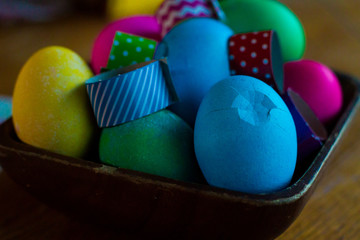 Easter egg coloring a decorating for holiday season eggs and decorations Yellow