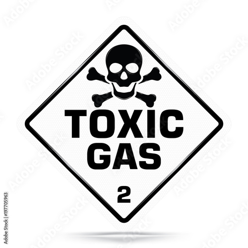 International Toxic Gas Class 2 Symbolwhite Warning Dangerous Icon