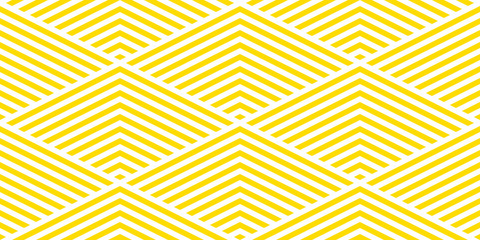 Summer background chevron pattern seamless yellow and white.