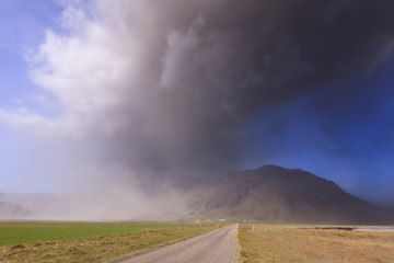 Eyjafjallajokull volcano eruption in Iceland.2010
