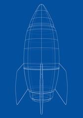 Bomb sketch. Vector
