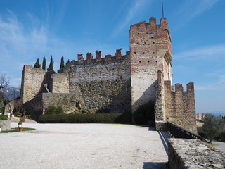 Marostica, Vicenza, Italy. The castle in the upper part of the town on the top of the hill