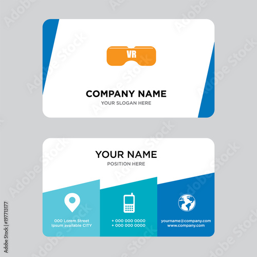 vr headset business card design template visiting for your company