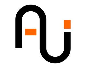 AU initial symbol typography typeface typeset logotype alphabet image vector icon