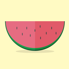 Watermelon vector modern icon - flat style graphic illustration