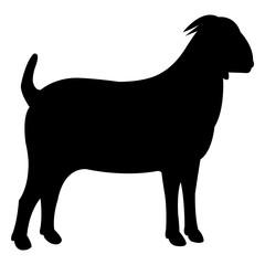 Goat black icon vector