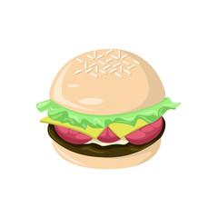 Fresh Big Burger Food Cafe Illustration