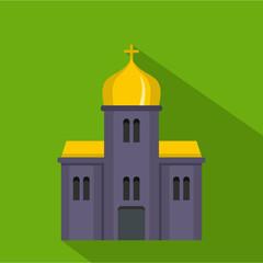 Orthodox church icon. Flat illustration of orthodox church vector icon for web