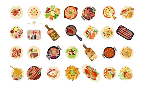 various food dishes