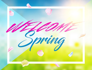 modern spring background