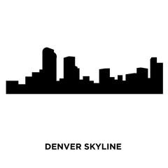 denver skyline silhouette on white background, vector illustration