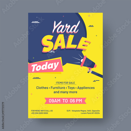 Garage or yard sale event announcement printable poster or banner ...