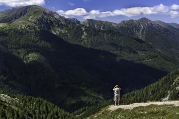 Alpen in Österreich Fernblick Perspektive