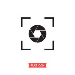 Focus vector icon, target symbol