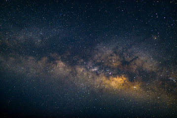 close up detail from the milky way with stars field