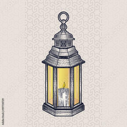 Vintage Traditional Arabic Lantern Or Fanoos