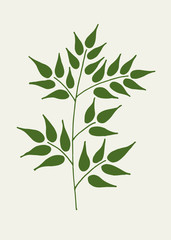 Branch of plant hand drawn outline doodle vector icon