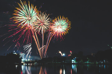 Fireworks celebrated on various important days.