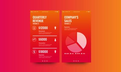 Quarterly Reveunue and Conpany Sales  UX UI Screen Design