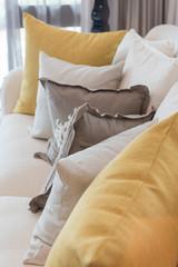 classic white elegance sofa in living room