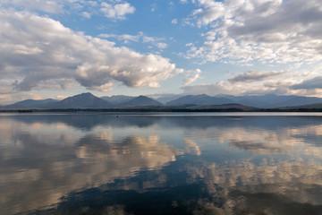 Waters of Liptovska Mara lake in Liptovsky Trnovec village, Slovakia.