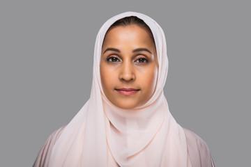 Beautiful middle eastern woman wearing abaya
