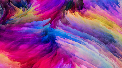 Acceleration of Colorful Paint