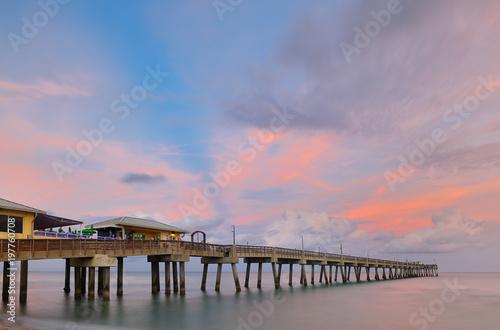 Fishing Peer At Dania Beach At Sun Set Fort Lauderdale Florida