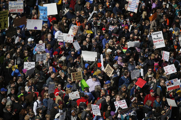 """Students and young people participate in the """"March for Our Lives"""" rally demanding gun control in Washington"""