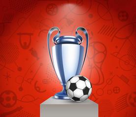Football cup vector illustration