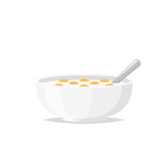 Bowl of cereal vector illustration