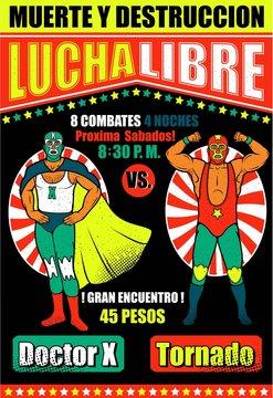 Vintage Lucha Libre Ticket.