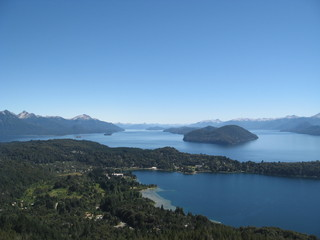 Landscape of lakes in Bariloche, Patagonia - Argentina