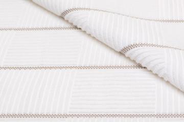 white bath towel. textured fabric background