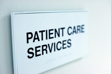 Patient Care Services Sign