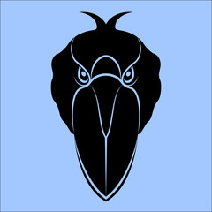 Vector image of the head of the heron bird
