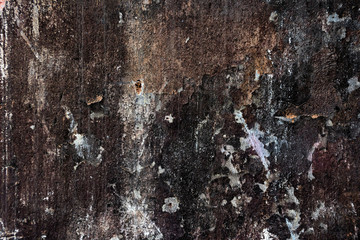 Grunge, scratched, shabby gloomy texture close