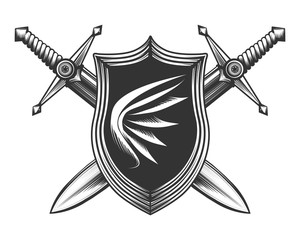 Two Sword with Shield